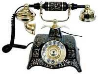 Solid Brass Telephone (Black finish)