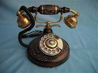 Solid Brass Telephone (Red Finish)