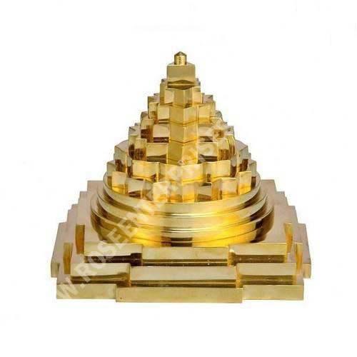 Brass Vastu Meru Shri Yantra Gold Plated
