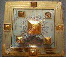 Brass Vedik Vastu Purush Pyramid Yantra Plate