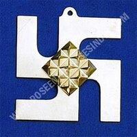 Brass Swastik Pyramid Yantra