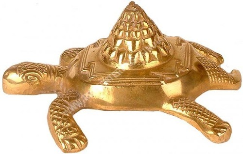 Tortoise Meru Shree Yantra Gold Plated