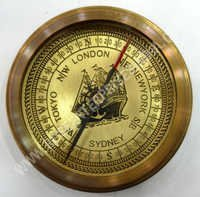 Antique Finish Open Face Compass