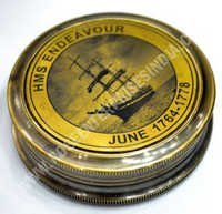 Antique Nautical Brass Lid Compass