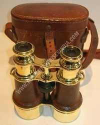 Antique Nautical Binocular With Leather Cover