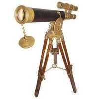 Antique Nautical Telescope With Tripod Stand