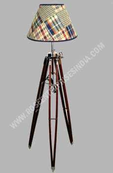 Lamp Stand With Colorful Shading