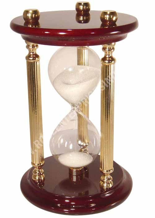 Wood and Brass Sand Timer