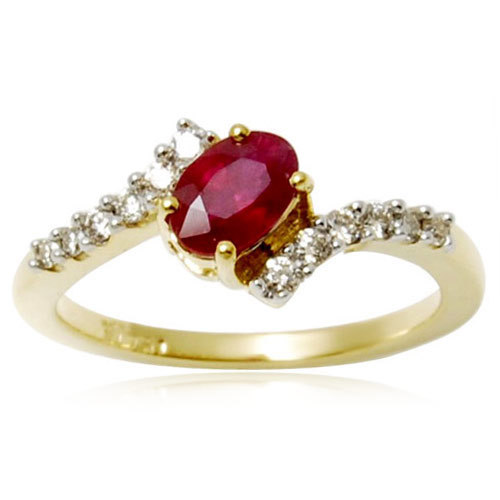 girls jewelry,18k gold jewelry ,yellow gold girls jewelry ring with diamonds and red oval shaped da