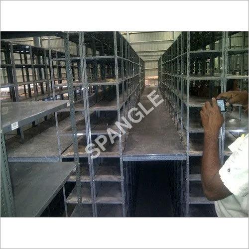 Seven Shelves Slotted Angle Industrial Racks
