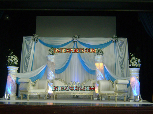 LATEST WEDDING CRYSTAL SILVER STAGE