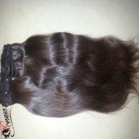 Human Hair on Weft