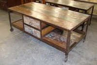 Reclaimed Wooden iron Table