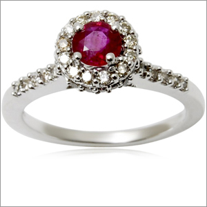gold rings for women latest designs crown ring, genuine 18k gold ruby ring of high quality