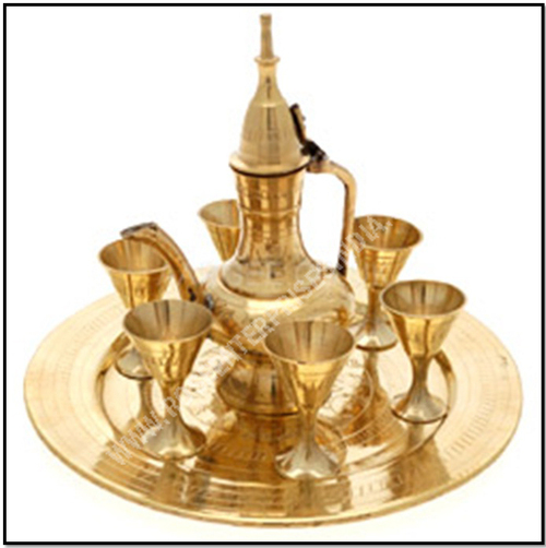 Brass Wine Set