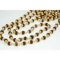 Rudraksha and Crystal Mala Necklace