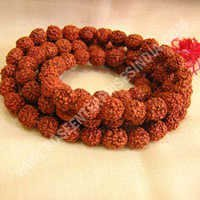 Rudraksha Mala 8mm Beads\108+1 Beads Japa/ Mala