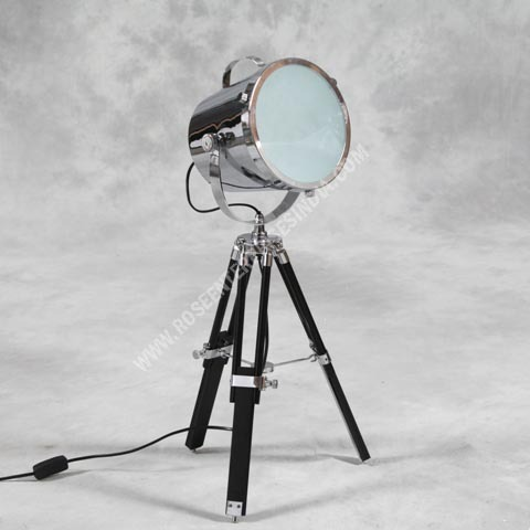 Studio Lamp Antique Marine Tripod Spot Light