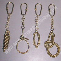 NAUTICAL BRASS KEY CHAIN