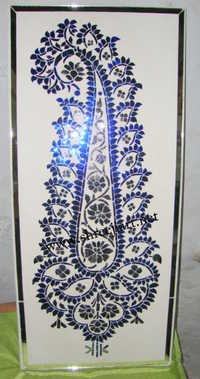 Golden Thikri Glass  Work Panel