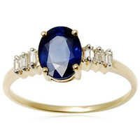 Rosetone Sapphire  Gold Ring, Wholesale gold ring