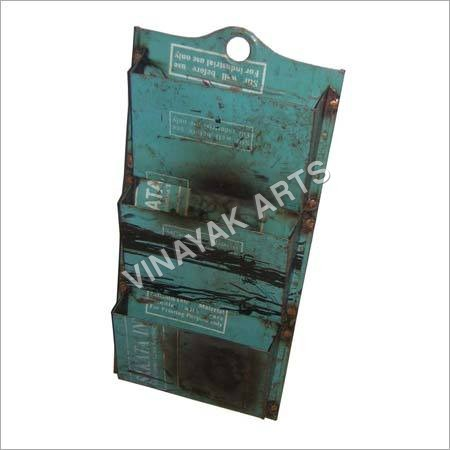 Recycled Metal 3 pocket letter holder