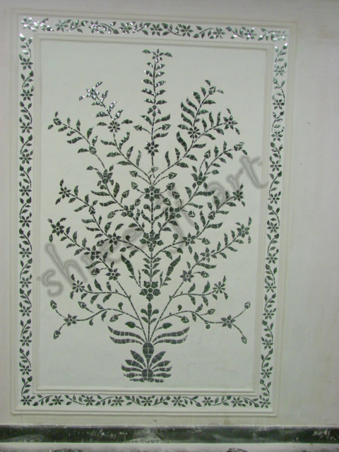 Floral Glass Panel