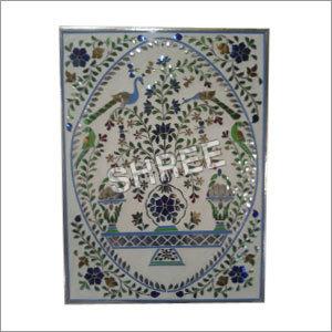 Floral Art Glass Panel