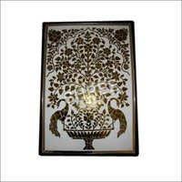 Floral Glass handmade Panel