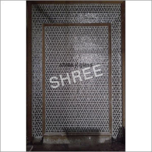 Geometrical Art Glass Panel