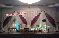 Wedding Silver Embroidered Backdrop
