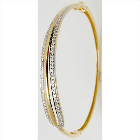 Graceful Classy Gold Diamond Designer Bangle