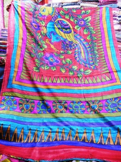Hand Painted Tussar Silk Sarees