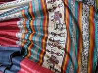 100% Tussar silk sari hand block printed