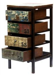 Reclaimed Wooden Iron Rack