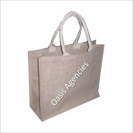 Webbing Handle Jute Carry Bag