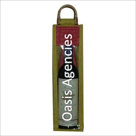 Jute Wine Single Bottle Bags