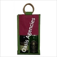 Double Wine Bottle Jute Bag