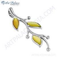 Fantastic Fashionable Mother Of Pearl Silver Pendant