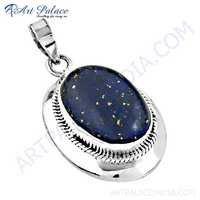 Wholesale Various Designer Lapis Lazuli Gemstone Silver Pendant