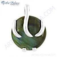 Gracious Fashionable Labradorite Gemstone Silver Pendant