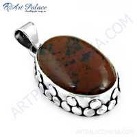 New Design Vintage Red Jasper Gemstone Silver Pendant