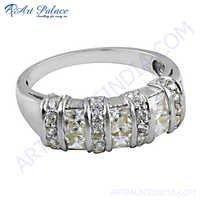 Latest Fashionable Cubic Zirconia Gemstone Silver Ring