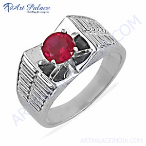 Exclusive Pink Cubic Zirconia Gemstone Silve Ring