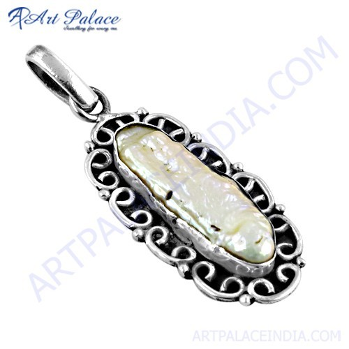 Fashion Accessories Viva Pearl Gemstone Silver Pendant