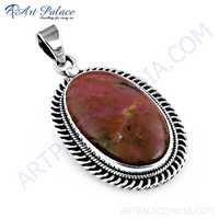 Popular Design Rhodolite Gemstone Silver Pendant, 925 Sterling Silver Jewelry