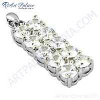 Top Quality Cubic Zirconia Gemstone Silver Pendant