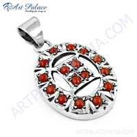 Hot Luxury Coral Gemstone Silver Pendant, 925 Sterling Silver Jewelry