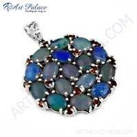 Wholesale Various styles Garnet & Opal Gemstone Silver Pendant