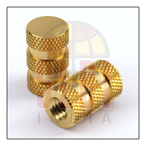 Cross Knurling Brass Inserts Nut